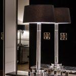 Lampa stojąca nocna Art Deco ELLINGTON wnętrze