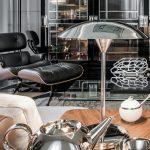 Lampa biurkowa stołowa art deco ZELDA wnętrze