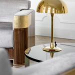 Chaplin lampa stołowa biurkowa Art Deco miedź