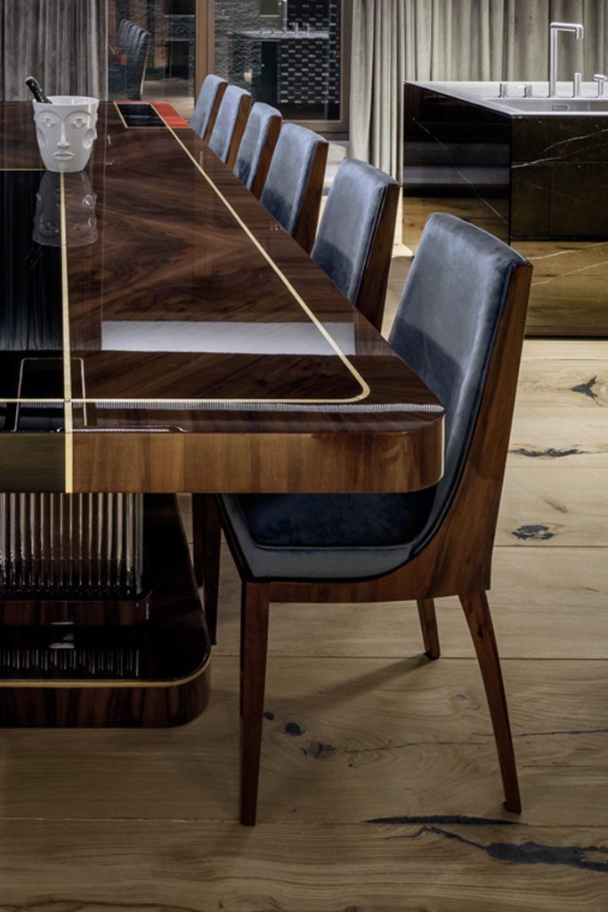 Krzesła w stylu amerykańskiego art deco
