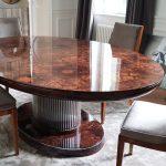 Owalny stół Art Deco - widok 3