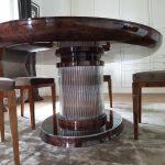 Owalny stół Art Deco widok 3