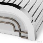 Lampa ścienna Streamline Moderne Art Deco detal