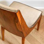 Krzesło w stylu amerykańskiego art deco, tapicerowane