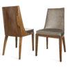 Krzesła z litego drewna w stylu amerykańskiego art deco
