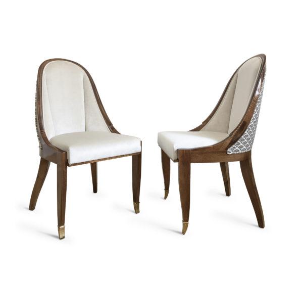 Krzesło RUHLMANN cuillernic art deco