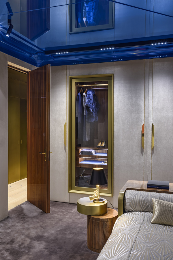 Sypialnia garderoba lampa Art Deco